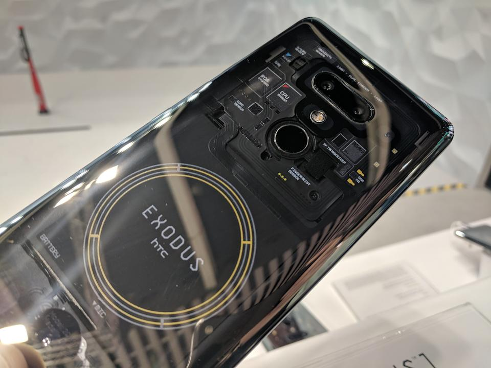 The HTC Exodus is a blockchain phone. Because of course it is. (image: Rob Pegoraro)