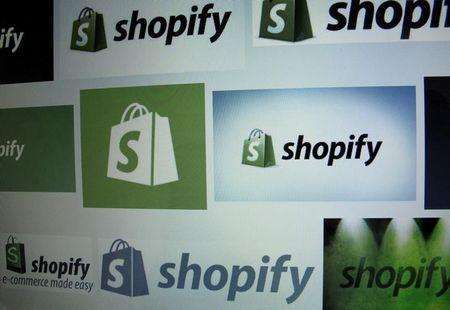 Canadian e-commerce company Shopify Inc logo is shown on a computer screen in the illustration photo in Encinitas California