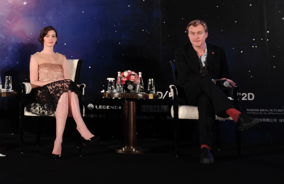 Anne Hathaway and Christopher Nolan (Credit: VCG/Getty)