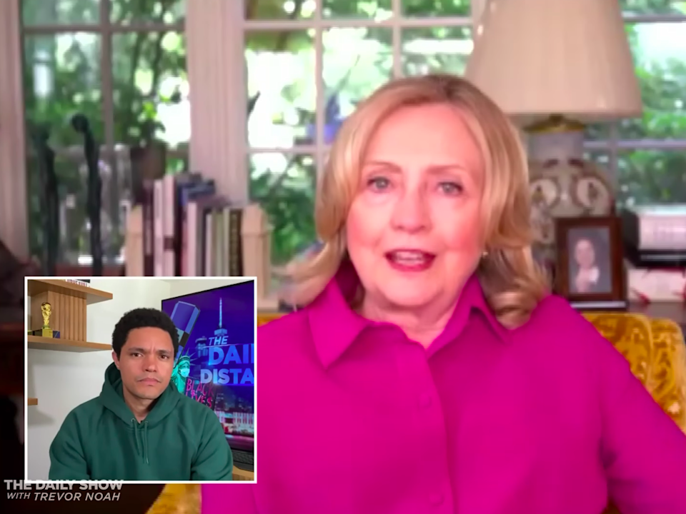 Hillary Clinton tells Trevor Noah that the US must be ready for Trump to refuse to leave office: The Daily Show/Comedy Central