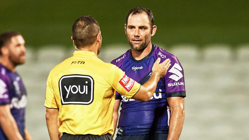 Cameron Smith and the Storm will play their next home game against the Warriors in Sydney after the coronavirus outbreak in Victoria. (Getty Images)