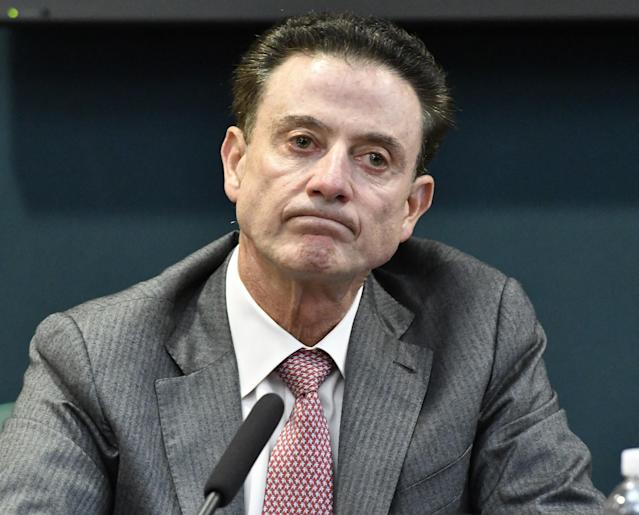 """Louisville coach Rick Pitino was cited for """"failure to monitor"""" by the NCAA. (AP)"""