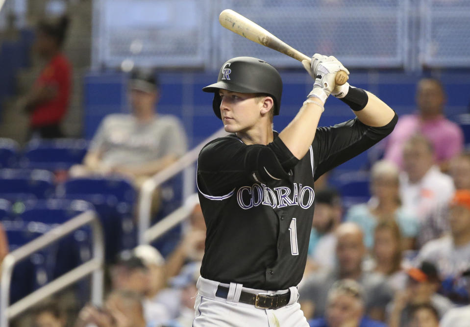 Ryan McMahon has helped his cause with a big spring. (AP Photo/Wilfredo Lee)