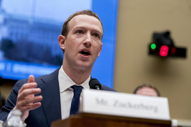 Facebook CEO Mark Zuckerberg testified before a House Energy and Commerce hearing on Capitol Hill in Washington, on Wednesday. Source: AP Photo/Andrew Harnik