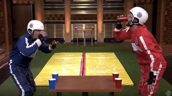Jimmy Fallon and Liam Hemsworth combine Slip 'N Slides and ...