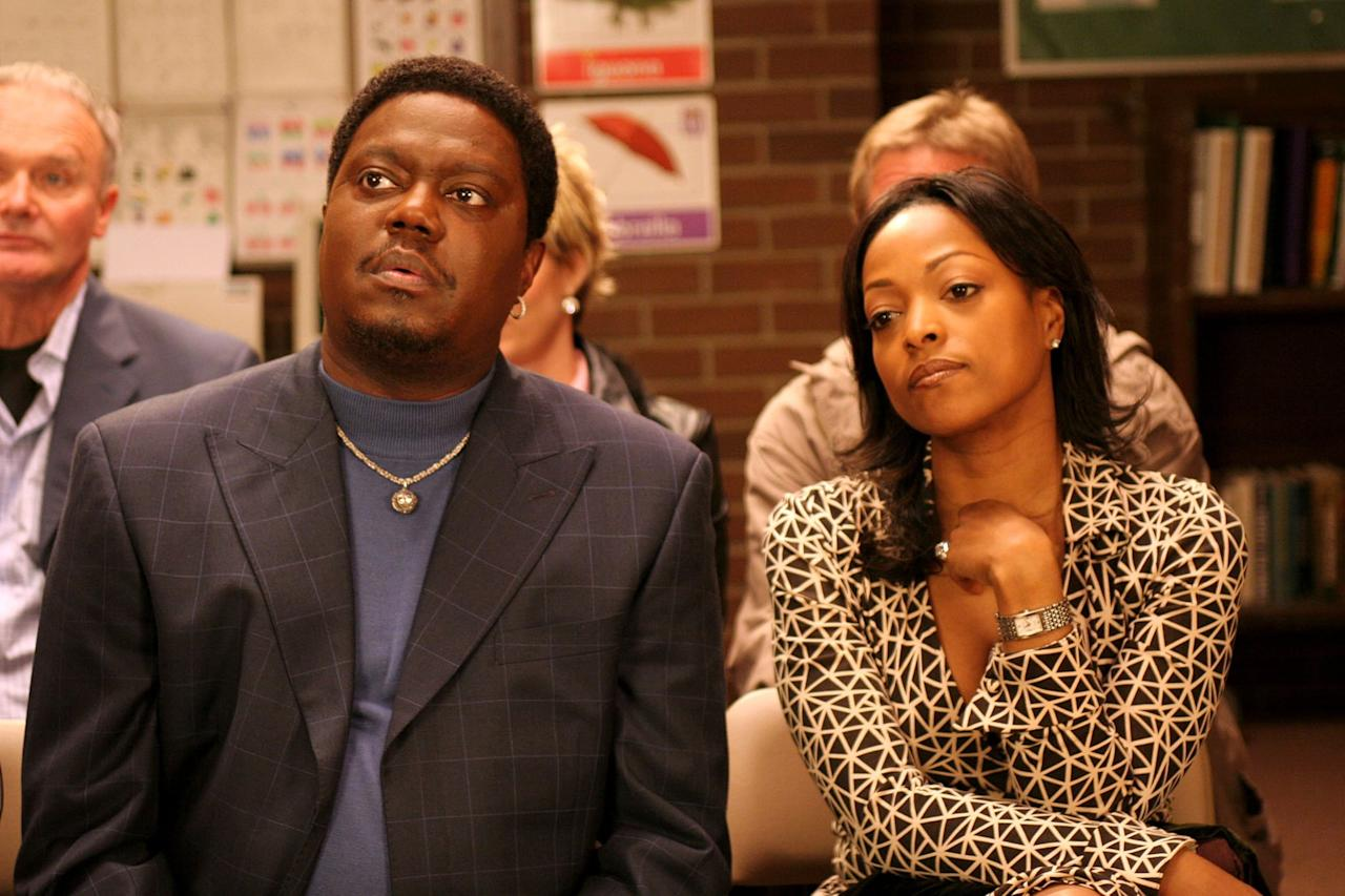 """<p>Late comedian Bernie Mac stars as the titular character in his 2001 sitcom <strong>The Bernie Mac Show</strong>. Playing a fictionalized version of himself, the show follows Bernie McCullough, a successful comedian living in Los Angeles. When Bernie's sister goes to rehab, he and his wife become responsible for raising her three children. With no children of his own, Bernie struggles to adjust to the kids' trying personalities and frequently breaks the fourth wall to discuss his troubles with the audience.  </p> <p>Throughout its five seasons on Fox, many celebrities guest stars on the show, including <a class=""""sugar-inline-link ga-track"""" title=""""Latest photos and news for Halle Berry"""" href=""""https://www.popsugar.com/Halle-Berry"""" target=""""_blank"""" data-ga-category=""""Related"""" data-ga-label=""""https://www.popsugar.com/Halle-Berry"""" data-ga-action=""""&lt;-related-&gt; Links"""">Halle Berry</a>, Serena Williams, <a class=""""sugar-inline-link ga-track"""" title=""""Latest photos and news for Chris Rock"""" href=""""https://www.popsugar.com/Chris-Rock"""" target=""""_blank"""" data-ga-category=""""Related"""" data-ga-label=""""https://www.popsugar.com/Chris-Rock"""" data-ga-action=""""&lt;-related-&gt; Links"""">Chris Rock</a>, <a class=""""sugar-inline-link ga-track"""" title=""""Latest photos and news for Ashton Kutcher"""" href=""""https://www.popsugar.com/Ashton-Kutcher"""" target=""""_blank"""" data-ga-category=""""Related"""" data-ga-label=""""https://www.popsugar.com/Ashton-Kutcher"""" data-ga-action=""""&lt;-related-&gt; Links"""">Ashton Kutcher</a>, <a class=""""sugar-inline-link ga-track"""" title=""""Latest photos and news for Ellen DeGeneres"""" href=""""https://www.popsugar.com/Ellen-DeGeneres"""" target=""""_blank"""" data-ga-category=""""Related"""" data-ga-label=""""https://www.popsugar.com/Ellen-DeGeneres"""" data-ga-action=""""&lt;-related-&gt; Links"""">Ellen DeGeneres</a>, and <a class=""""sugar-inline-link ga-track"""" title=""""Latest photos and news for Matt Damon"""" href=""""https://www.popsugar.com/Matt-Damon"""" target=""""_blank"""" data-ga-category=""""Related"""" data-ga-label=""""https://www.popsugar.com/M"""
