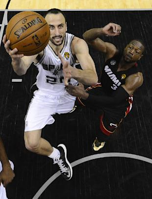 Manu Ginobili showed he still has some game left in the tank after scoring 24 points on Sunday. (AP)