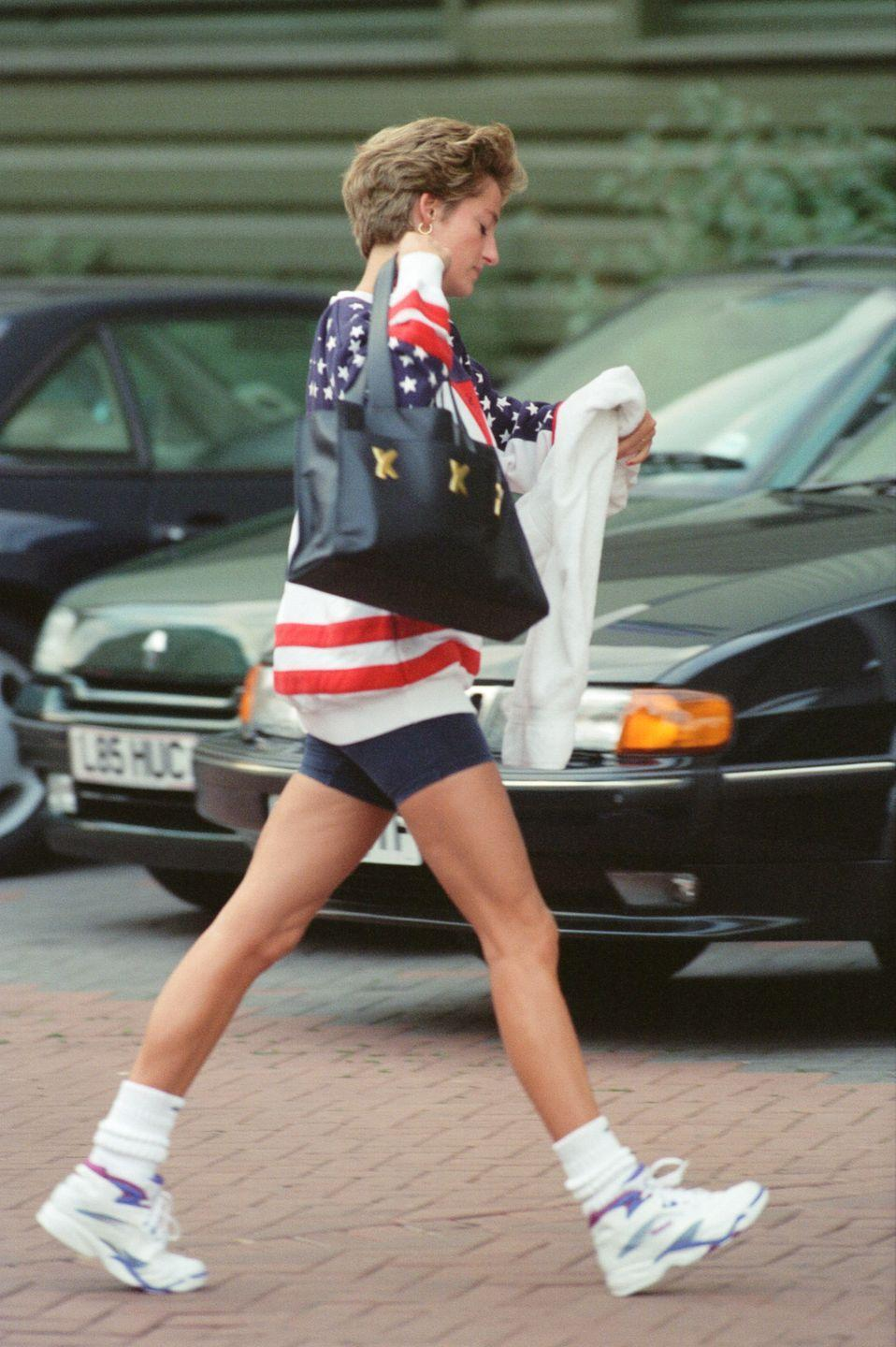 <p>Though Diana was, of course, British, she seemed to enjoy the novelty of Americana-themed outfits, wearing American flag-adorned garments on multiple occasions. </p>