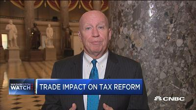 Rep. Kevin Brady (R-Texas), House Ways & Means chairman, discusses the GOP tax reform tax reform package hitting the six-month mark.