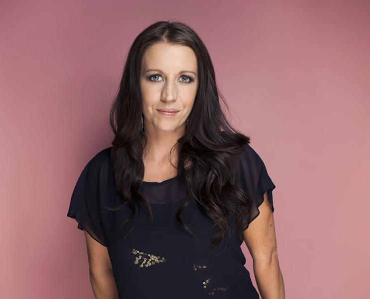 """This Sept. 20, 2012 photo shows Pattie Mallette, mother of Canadian singer-songwriter, producer, entrepreneur and actor Justin Bieber, in New York. Mallette is the author of an autobiography called """"Nowhere but Up: The Story of Justin Bieber's Mom,"""" which was released on Sept. 18. (Photo by Victoria Will/Invision/AP)"""