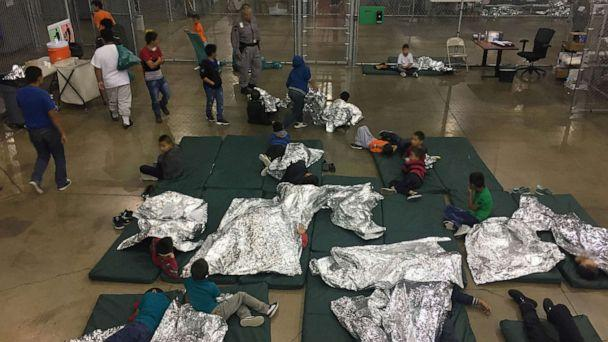 PHOTO: In this file photo, a view inside a U.S. Customs and Border Protection (CBP) detention facility shows children at Rio Grande Valley Centralized Processing Center in Rio Grande City, Texas. (CPB via Reuters, FILE)