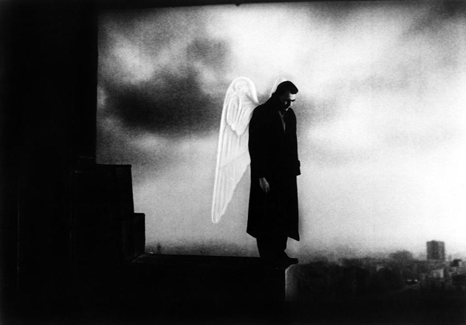 """<a href=""""http://movies.yahoo.com/movie/wings-of-desire/"""" data-ylk=""""slk:WINGS OF DESIRE"""" class=""""link rapid-noclick-resp"""">WINGS OF DESIRE</a> (1988) <br>Directed by: <span>Wim Wenders</span> <br>Starring: <span>Bruno Ganz</span>, <span>Solveig Dommartin</span> and <span>Otto Sander</span>"""