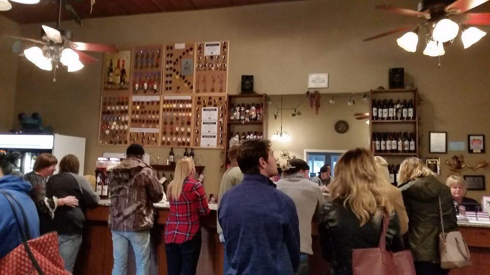 "<p><a href=""https://foursquare.com/v/purple-toad-winery/4bef1a842ff520a12521e8a2"" rel=""nofollow noopener"" target=""_blank"" data-ylk=""slk:Purple Toad Winery"" class=""link rapid-noclick-resp"">Purple Toad Winery</a> in Paducah</p><p>""Large variety of <span class=""entity tip_taste_match"">wines</span> including <span class=""entity tip_taste_match"">strawberry</span>, blackberry, <span class=""entity tip_taste_match"">blueberry</span>, <span class=""entity tip_taste_match"">peach</span>, and some blends. Owners are great. Large additional building for events."" - Foursquare user <a href=""https://foursquare.com/user/158607711"" rel=""nofollow noopener"" target=""_blank"" data-ylk=""slk:Leslie Ballard"" class=""link rapid-noclick-resp"">Leslie Ballard</a></p>"