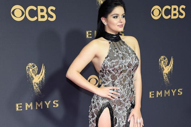 Ariel Winter at the 2017 Emmy Awards. (Photo: Getty Images)