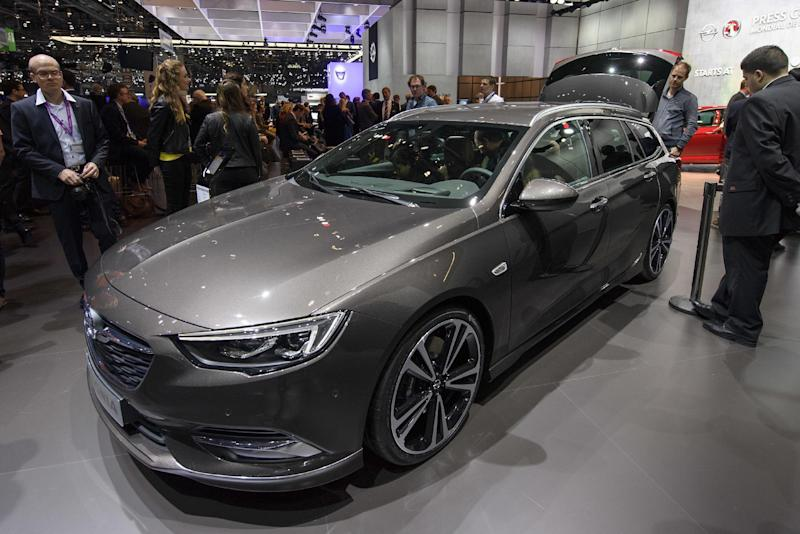 The New Opel Insignia Sports Tourer is presented during the press day at the 87th Geneva International Motor Show in Geneva, Switzerland, Tuesday, March7, 2017. The Motor Show will open its gates to the public from March 9 to 19. (Martial Trezzini/Keystone via AP)