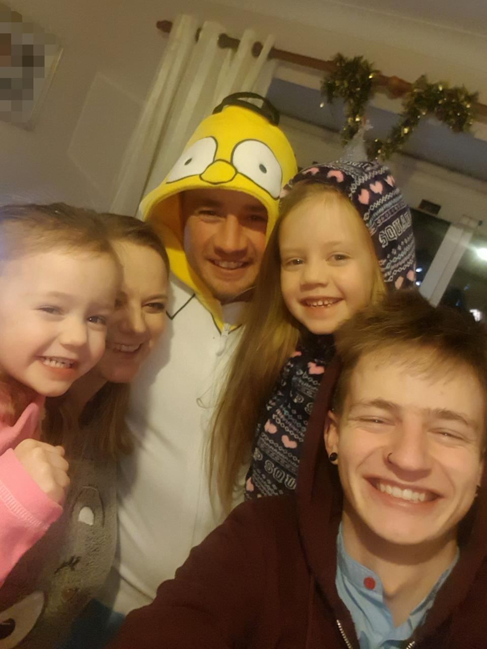 Natasha with her family - Grace, Ellie, Adam and Stephen (PA Real Life/Collect)