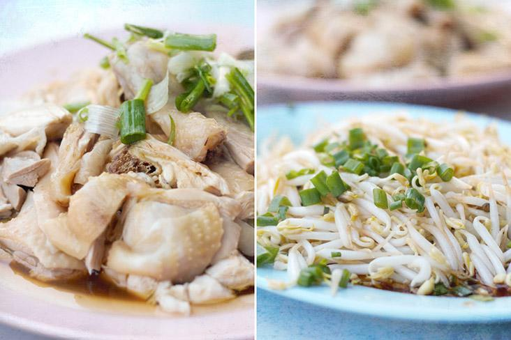When in Ipoh, one must try the local 'nga choy gai' with plenty of juicy bean sprouts.