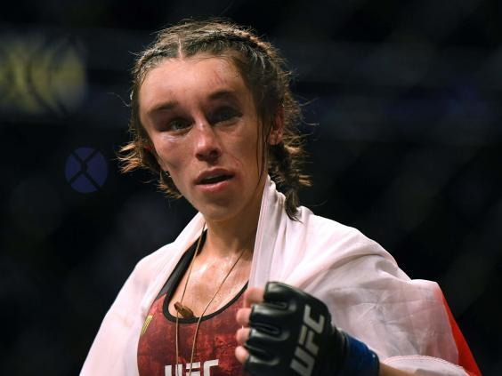 Joanna Jedrzejczyk was left with a huge haematoma on her face (Getty)