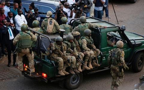 <span>Extremists launched a deadly attack on a luxury hotel in Kenya's capital&nbsp;</span> <span>Credit: AP Photo/Brian Inganga </span>
