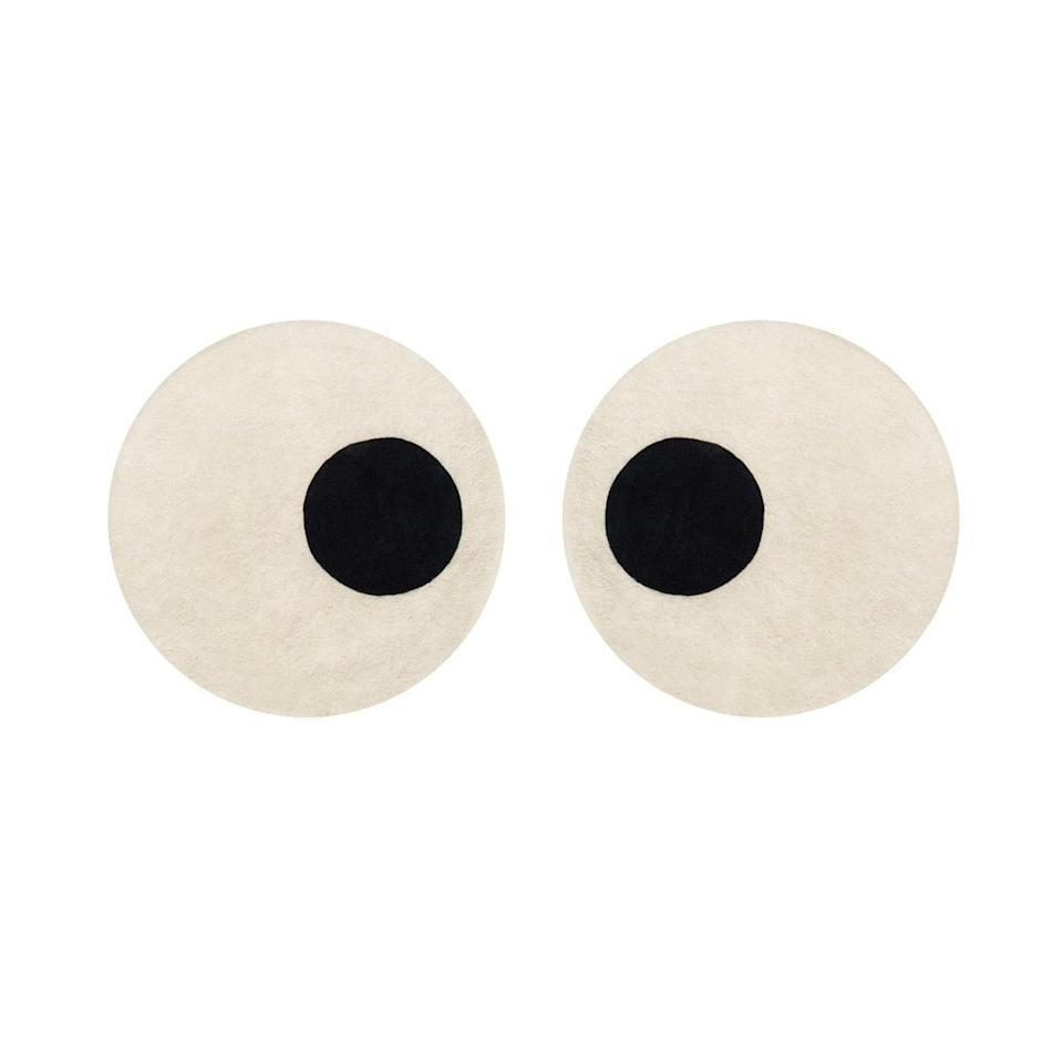 "<h2>Maison Duex Eyes Rug</h2><br>It doesn't get much funkier than a pair of plush peepers to sink your feet into. <br><br><em>Shop <strong><a href=""https://www.thetot.com/product/maison-deux-eyes-rug/"" rel=""nofollow noopener"" target=""_blank"" data-ylk=""slk:Maison Duex"" class=""link rapid-noclick-resp"">Maison Duex</a></strong></em><br><br><strong>Maison Deux</strong> Maison Deux Eyes Rug, $, available at <a href=""https://go.skimresources.com/?id=30283X879131&url=https%3A%2F%2Fwww.thetot.com%2Fproduct%2Fmaison-deux-eyes-rug%2F"" rel=""nofollow noopener"" target=""_blank"" data-ylk=""slk:The Tot"" class=""link rapid-noclick-resp"">The Tot</a>"