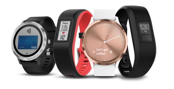 Garmin watches and trackers