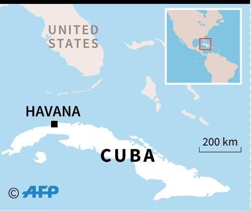 Map of Cuba locating the tornado in Havana (AFP Photo/)