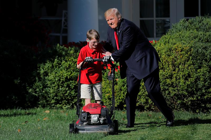 Trump couldn't resist offering Frank a little encouragement. (Carlos Barria / Reuters)