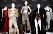 A selection of clothing and other items belonging to music recording artist Janet Jackson are on display during an auction preview at Julien's Auctions in Beverly Hills