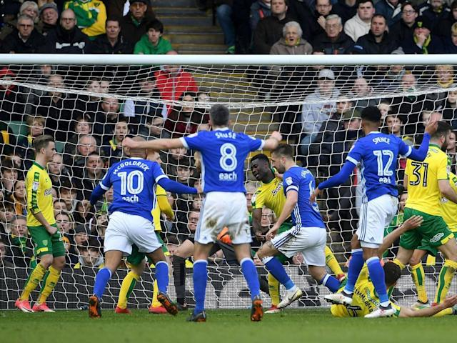 Timm Klose saves Norwich to deny Mick McCarthy's Ipswich the perfect smash and grab in East Anglian derby