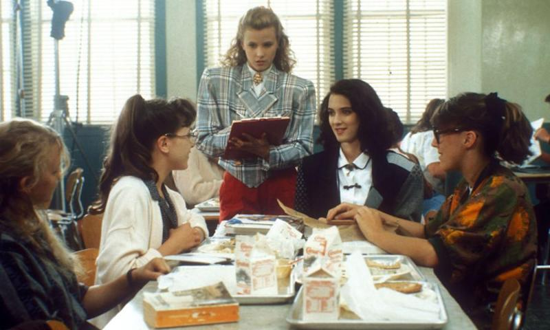 A scene from the 1988 film Heathers.