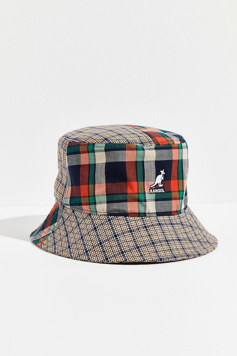 """<p><strong>Kangol</strong></p><p>freepeople.com</p><p><strong>$50.00</strong></p><p><a href=""""https://go.redirectingat.com?id=74968X1596630&url=https%3A%2F%2Fwww.freepeople.com%2Fshop%2Fkangol-plaid-mash-up-bucket-hat%2F&sref=https%3A%2F%2Fwww.countryliving.com%2Fshopping%2Fg37003543%2Ffall-hats-women%2F"""" rel=""""nofollow noopener"""" target=""""_blank"""" data-ylk=""""slk:SHOP NOW"""" class=""""link rapid-noclick-resp"""">SHOP NOW</a></p><p>Also continuing on a 2021 style trend, mixed prints are a funky way to make your fall outfits looking fun and fresh. This 90s-inspired cotton hat has a timeless bucket-shape silhouette with a wide brim and a mash-up of two different plaid prints. </p>"""