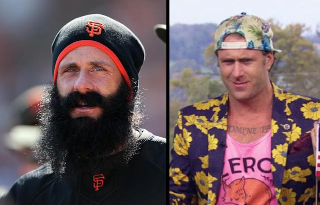 "<a class=""link rapid-noclick-resp"" href=""/ncaaf/players/272943/"" data-ylk=""slk:Brian Wilson"">Brian Wilson</a> in the ""Fear the Beard"" days and in the ""Need for Speed"" days. (AP/Amazon)"