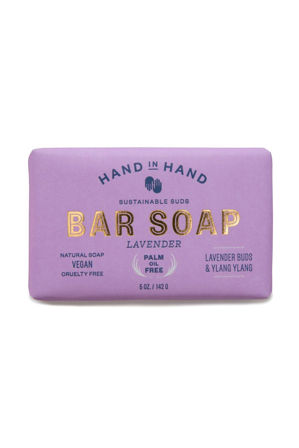 "<p>$6</p><p><a class=""link rapid-noclick-resp"" href=""https://go.redirectingat.com?id=74968X1596630&url=https%3A%2F%2Fwww.handinhandsoap.com%2Fcollections%2Fbar-soap&sref=https%3A%2F%2Fwww.womansday.com%2Flife%2Fwork-money%2Fg2775%2Fcharitable-gifts-that-give-back%2F"" rel=""nofollow noopener"" target=""_blank"" data-ylk=""slk:SHOP NOW"">SHOP NOW</a></p><p>Buy this all-natural, lightly fragranced soap and <a href=""https://www.handinhandsoap.com/"" rel=""nofollow noopener"" target=""_blank"" data-ylk=""slk:Hand in Hand"" class=""link rapid-noclick-resp"">Hand in Hand</a> will give a bar <em>and</em> a month of clean <a href=""https://www.womansday.com/health-fitness/nutrition/a22160984/veronica-schoor-weight-loss-success/"" rel=""nofollow noopener"" target=""_blank"" data-ylk=""slk:water"" class=""link rapid-noclick-resp"">water</a> to a community in need.</p>"
