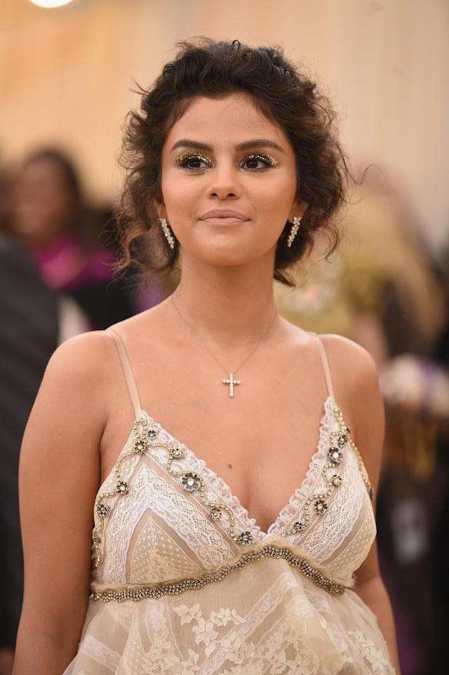 Selena Gomez at the 2018 Met Gala. (Photo: Jason Kempin/Getty Images)