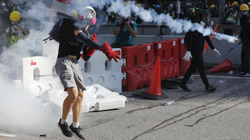 Rallies across Hong Kong have descended into violent protests for a third straight day