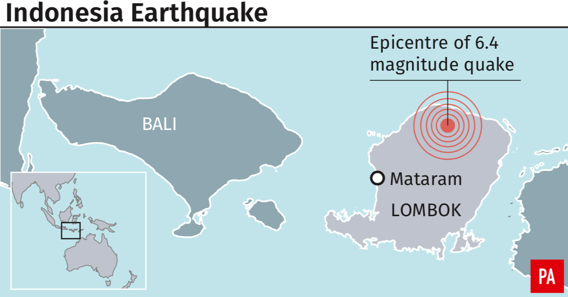 <em>The location of the deadly earthquake in Lombok (PA)</em>