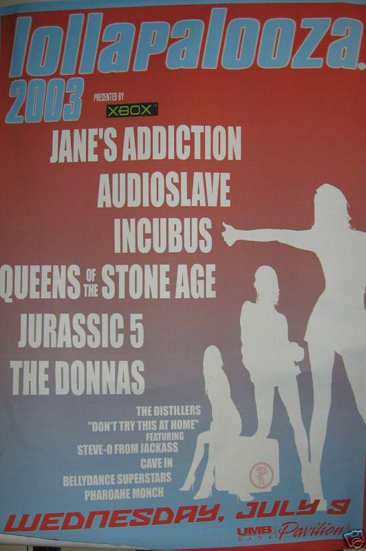 20030709 lollapalooza poster Ranking: Every Lollapalooza Lineup from Worst to Best