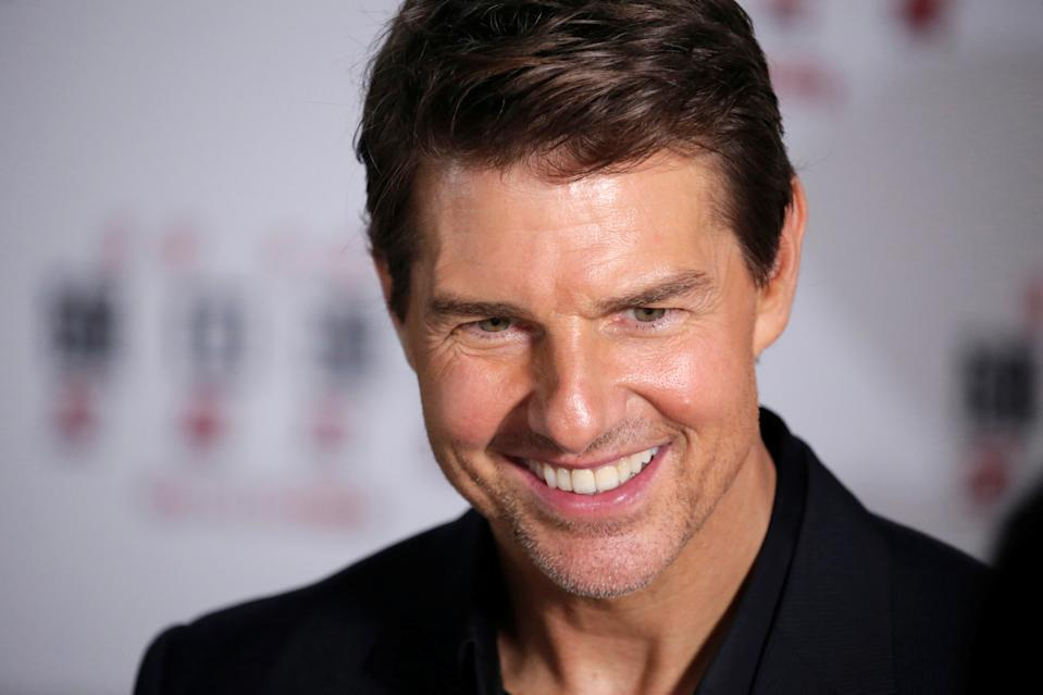 """Cast member Tom Cruise attends a news conference promoting his upcoming film """"Mission: Impossible - Fallout"""" at the Imperial Ancestral Temple in Beijing, China, August 29, 2018. REUTERS/Jason Lee"""
