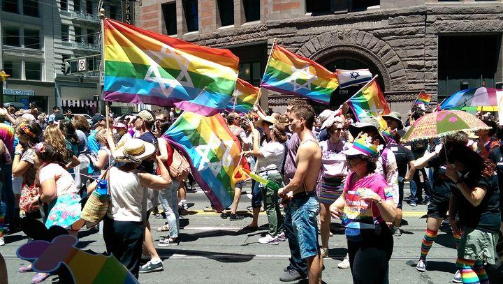 A gay pride march