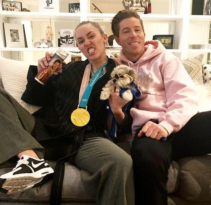 Miley Cyrus and Shaun White
