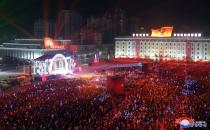 People attend New Year celebrations in Pyongyang