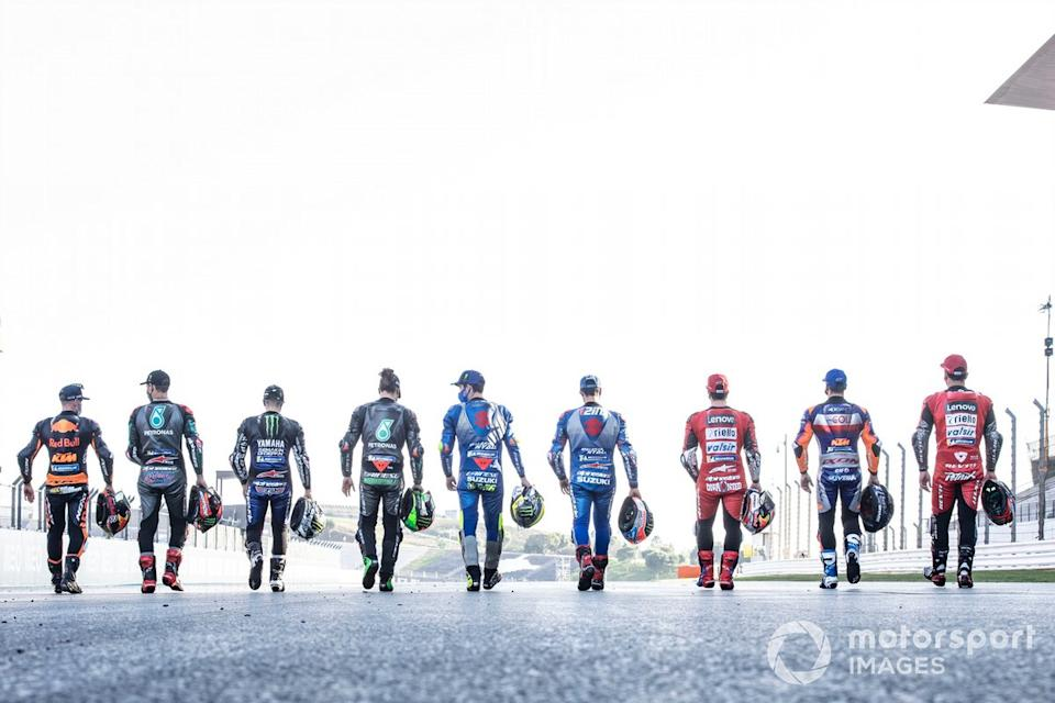 "Los pilotos de MotoGP 2020<span class=""copyright"">Gold and Goose / Motorsport Images</span>"