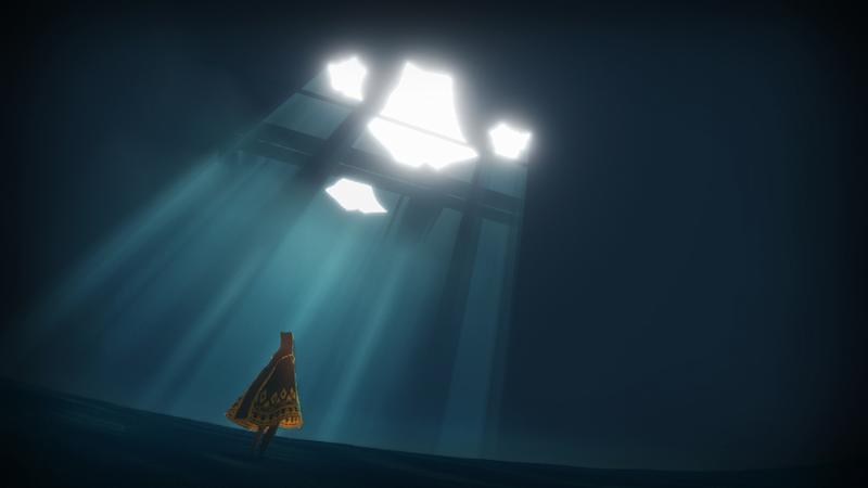 "This undated publicity photo released by thatgamecompany/Sony Computer Entertainment America shows a scene from the video game, ""Journey."" Austin Wintory's nomination for the artsy PlayStation 3 game ""Journey"" marks the first time a game score has been nominated for a Grammy. Wintory is facing John Williams and his score for ""The Adventures Of Tintin"" at the Feb. 10, 2013 ceremony, as well as the scores to ""The Artist"" by Ludovic Bource, ""Hugo"" by Howard Shore, ""The Dark Knight Rises"" by Hans Zimmer and ""The Girl With The Dragon Tattoo"" by Trent Reznor and Atticus Ross. (AP Photo/thatgamecompany/Sony Computer Entertainment America)"