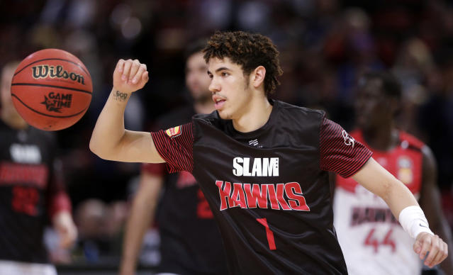 LaMelo Ball plays in Australia because of 'connections.' (AP Photo/Rick Rycroft)