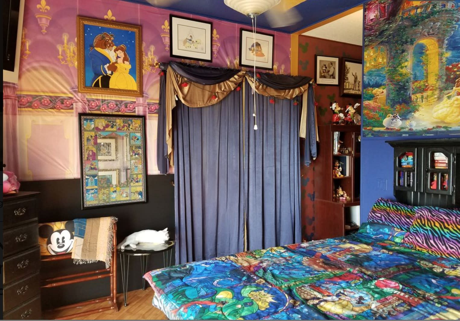 A Beauty And The Beast Themed Bedroom Courtesy Zillow