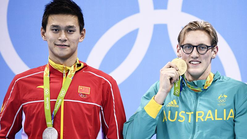 Sun Yang and Mack Horton, pictured here at the Rio 2016 Olympics.