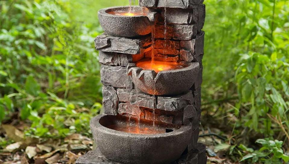 Add a fountain to your garden space for a more zen feel.