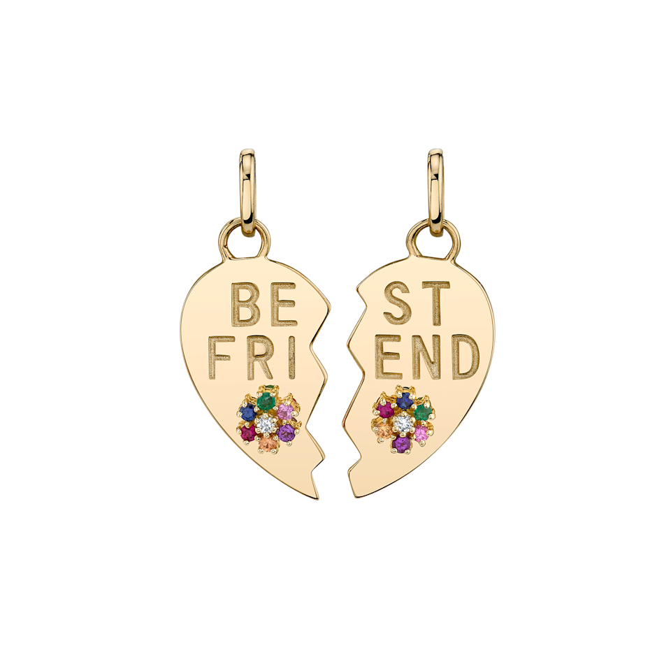 """<br><br><strong>The Last Line</strong> Rainbow Best Friend Heart and Flower Pendant Set, $, available at <a href=""""https://go.skimresources.com/?id=30283X879131&url=https%3A%2F%2Fthisisthelast.com%2Fproducts%2Frainbow-best-friend-heart-and-flower-pendant-set"""" rel=""""nofollow noopener"""" target=""""_blank"""" data-ylk=""""slk:The Last Line"""" class=""""link rapid-noclick-resp"""">The Last Line</a>"""