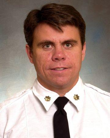 FDNY Battalion Chief Michael J. Fahy is seen in an undated picture released by the New York City Fire Department