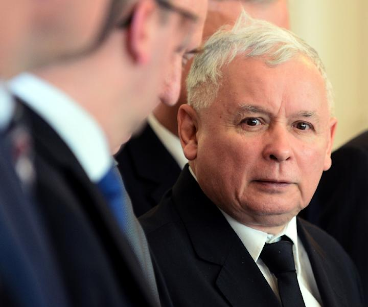 Jaroslaw Kaczynski, leader of PiS (Law and Justice) party could win a majority in upcoming polls, surveys show (AFP Photo/Janek Skarzynski)
